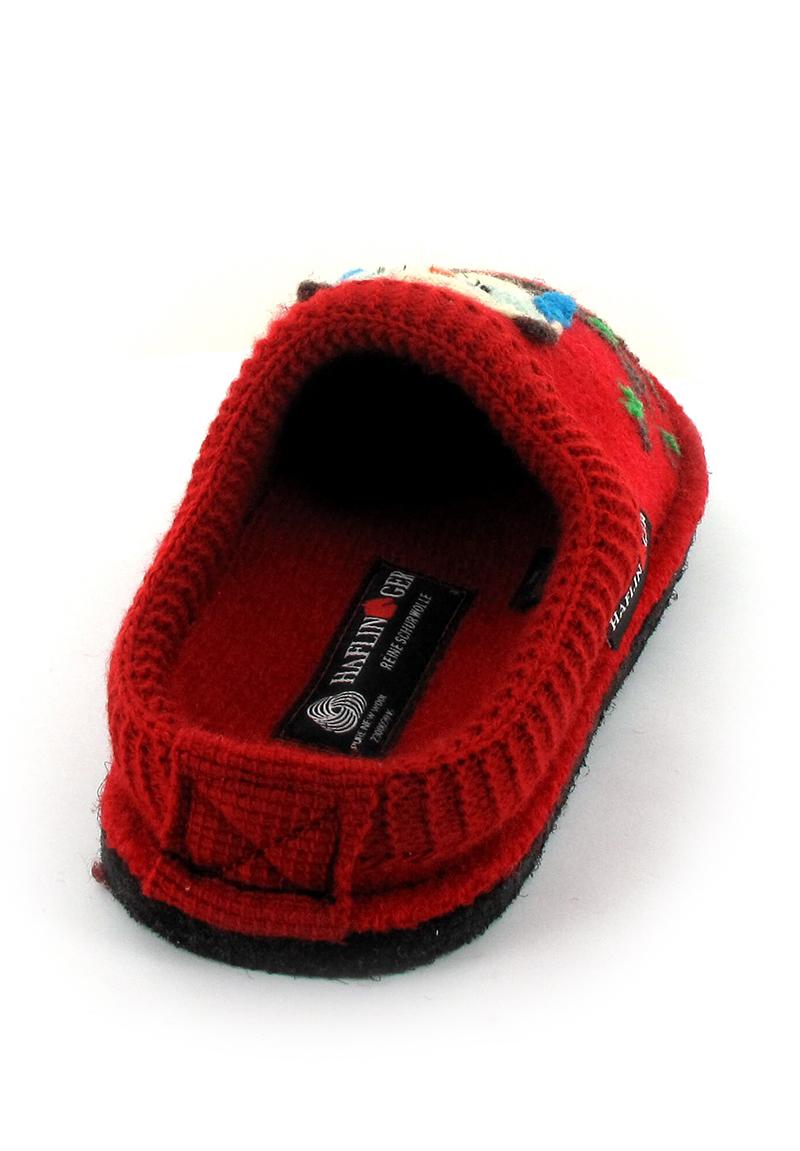 Damen-Pantoffel mit Motiv Größen 37-39 rot NEU